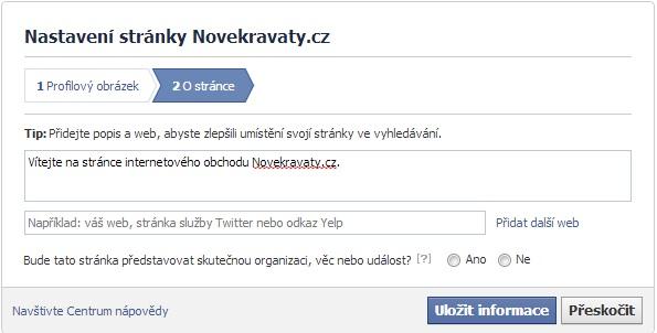 tvorba facebook stránky